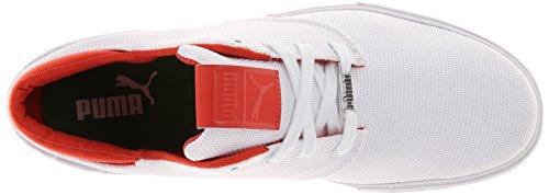 Puma Heren El Seevo Canvas Fashion Sneaker Wit / Medium Groen / Grenadine