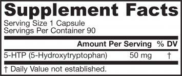 Jarrow Formulas - Five (5)-HTP 50 mg - 90 caps (Pack of 8)