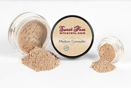 MEDIUM CONCEALER Corrector Mineral Makeup Matte Bare Face Foundation Loose Powder Full Coverage (20 gram Sifter Jar)