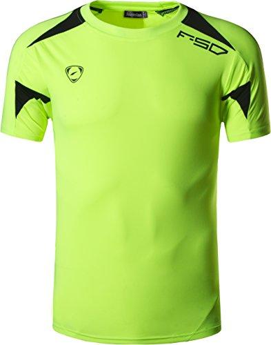 Short Jeansian Quick Sleeved Tops Homme Outdoor Lsl3209 De Tee Dry Men's T greenyellow Lsl133 shirt Sport nr1Yw1qI