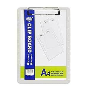 Fis Acrylic Clip Boards (grey Color), A4 Size