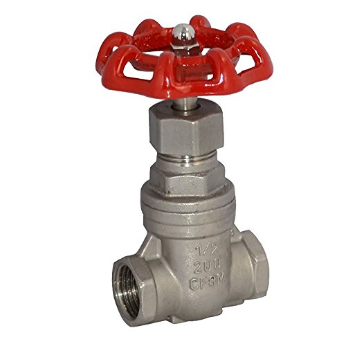 1/2'' NPT Heavy Duty Gate Valve CF8M with Stainless Steel SUS SS 316 by dot
