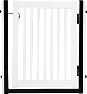 """product image for Dynamic Accents Amish Craftsman Citadel Pressure Mount Pet Gates are Handcrafted 34"""" High -spans a 32"""" Opening/White"""