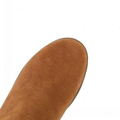 Heart&M Damen Stiefel Komfort Neuheit Stiefeletten Herbst Winter Kunstleder Normal Quaste Blockabsatz Schwarz Gelb Grün Dunkelbraun 2,5 - 4,5 cm black
