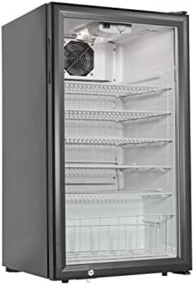 Grindmaster Cecilware CTR3.75 Countertop Refrigerator 5 Shelves, 3.8 Cubic Feet, Black