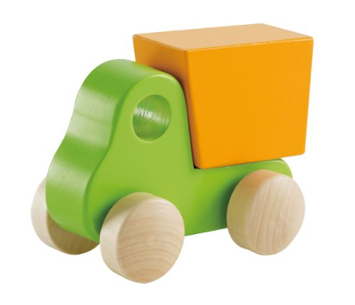 Hape Little Dump Truck Toddler Wooden Toy Vehicle in Green
