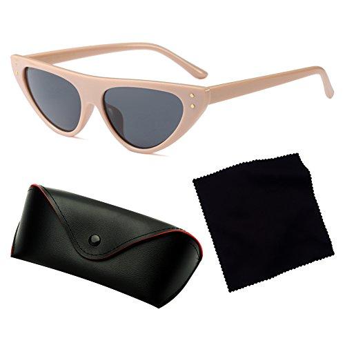 Narrow Retro Eye Sunglasses hibote Mujeres Drop Cat C3 Glasses Frame Triangle Small E4qr6n4O