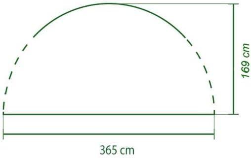 4,5 x 4,5 m Pared Lateral de Carpa Coleman Event