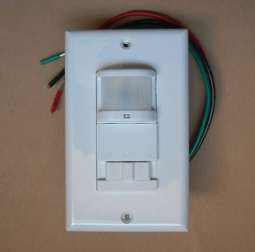 OCCUPANCY Wall Motion Sensor Detector 120V AC Switch and LED Indicator WHITE - NO NEUTRAL WIRE (White) Requested
