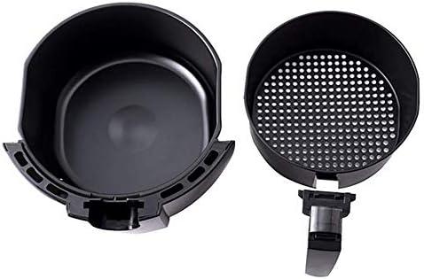 Pkfinrd Électrique à air Chaud Fryer 2.6L / 2.6Qt Air friteuses et Accessoires supplémentaires, des Recettes et des Brochettes Accessory Set, B