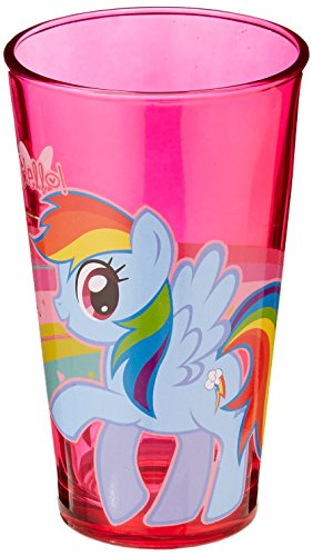 Silver Buffalo MLP48031P Hasbro My Little Pony Rainbow Dash Pint Glass, 16-Ounces