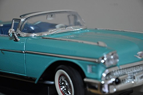 (Home Comforts Framed Art for Your Wall Oldtimer Toy Car Cadillac Classic Car Acquamarine 10x13)