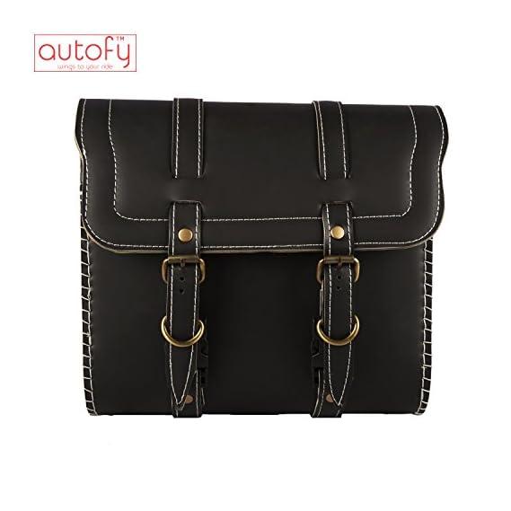 Autofy Universal Side Bag/Saddle/Travel Bag/Carrier for All Bikes (Black)