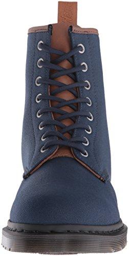 Dr.Martens Mens Waxy New Laredo Canvas Boots blu