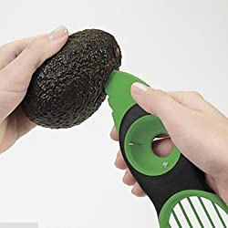 Rienar 3in1 Multi-function Avocado Slicer Peeler Cutter&Core Remover Hot Selling Kitchen Tool Random Cloor