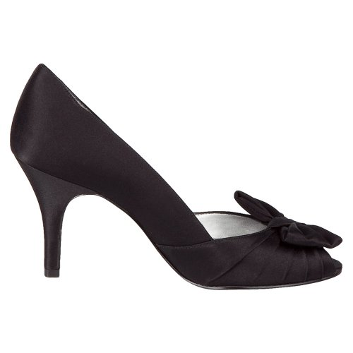 cheap for nice Nina Women's Forbes Satin Peep-Toe Pump Black Luster Satin browse cheap price view cheap sale get to buy countdown package cheap online 1g8VF82z