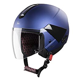 Steelbird Hi-Gn SBH-5 VIC Female Glossy Y. Blue with Plain Visor,560 mm