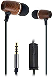 FSL Xylem Wood Earbuds with Microphone and Remote - Corded Headset