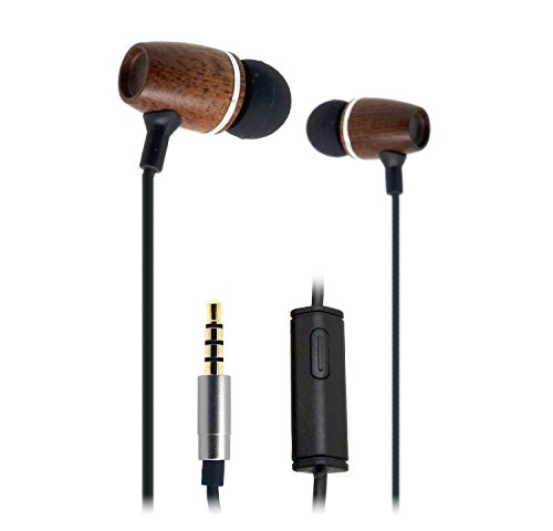 fsl-xylem-wood-earbuds-with-microphone-and-remote-corded-headset
