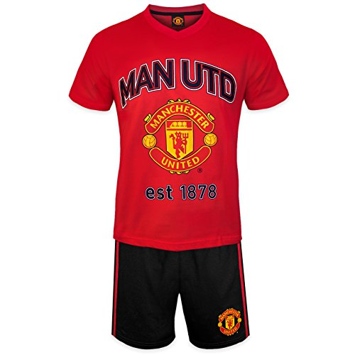 Manchester United Fashion - Manchester United FC Official Soccer Gift Mens Loungewear Short Pajamas Medium