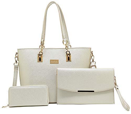 - Women Tote Handbag + Envelopes + Wallet 3 Piece Set Bag Shoulder Bag for Work