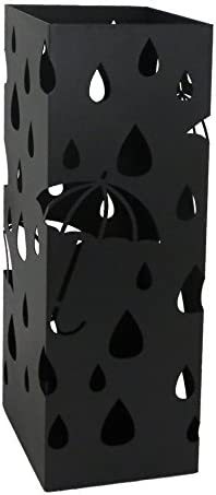 アイホーム(Ihome) 傘立て k4 k44 黒 本体: 奥行19.5cm 本体: 高さ49.5cm 本体: 幅19.5cm 傘立て本体、受け皿、フック×2