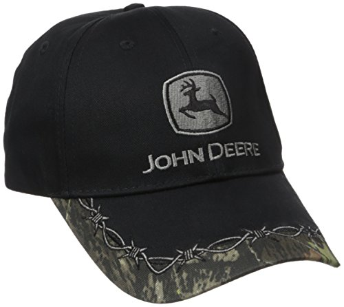 Logo Embroidered Baseball Cap - John Deere Barb Wire & Camo Embroidered Logo Baseball Hat - One-Size - Men's - Camo