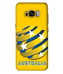 ColorKing Football Australia 06 Yellow shell case cover for Samsung S8