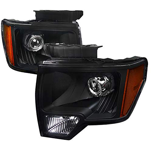 Velocity Concepts for F-150 New Retrofit Style JDM Crystal Black Projector Headlights - Jdm Style Headlights
