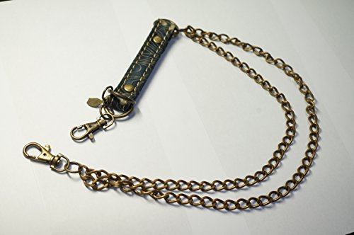 Ripple Japanease Traditional Pattern Wallet Chain No.3 Two Chain and Blue Flowor (Best Wallet For Ripple)