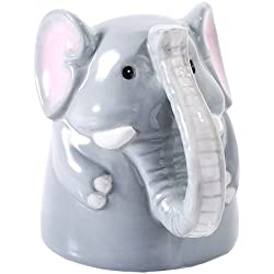 Elephant Kitchen Decor - Topsy Turvy Adorable Upside Down Elephant Mug