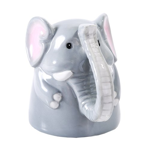Topsy Turvy Coffee Mug Adorable Mug Upside Down Tea Home Office Decor (Elephant)