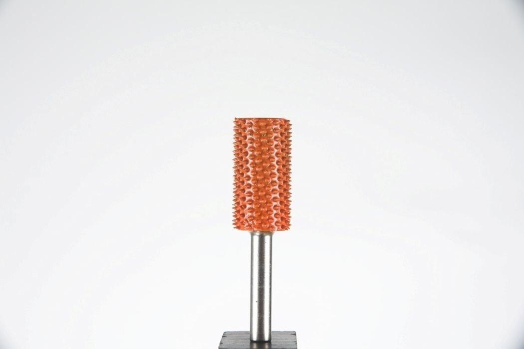 1/4'' Shank, Cylinder, Safe & Smooth End, Diameter 5/8'', Extra Coarse Grit, Orange - End mill & Carbide Burr Saburr Tooth - Rotary, Shank, Wood, Power carving - 14C58LSE-90