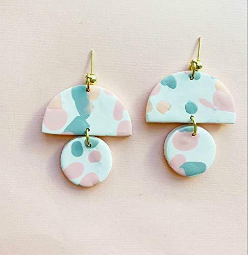 drop earrings CLAY EARRINGS statement earrings handmade Hypoallergenic