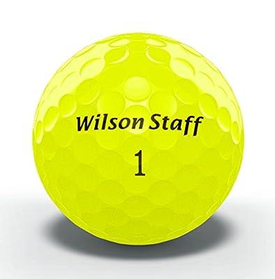 Wilson Staff Duo Golf Balls, Yellow, 12 Piece