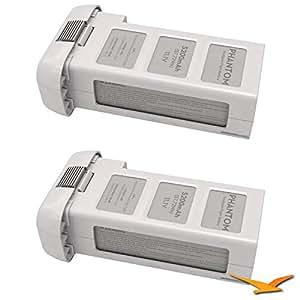 DJI Battery for Phantom 2 and Phantom 2 Vision (Two Pack)
