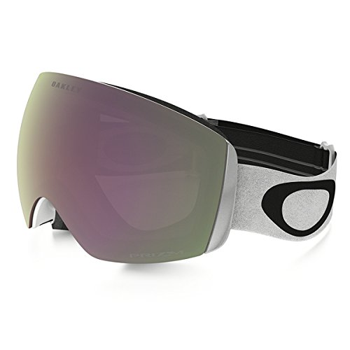 Oakley Flight Deck XM (A) Snow Goggles, Matte White, VR50 Pink Iridium, Medium (Flight Deck Helmet)