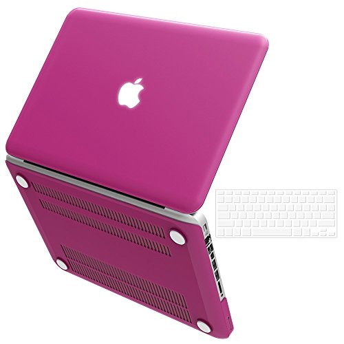 "iBenzer Basic Soft-Touch Series Plastic Hard Case & Keyboard Cover for Apple MacBook Pro 13-inch 13"" with CD-ROM A1278 (Previous Generation) (Lavender)"