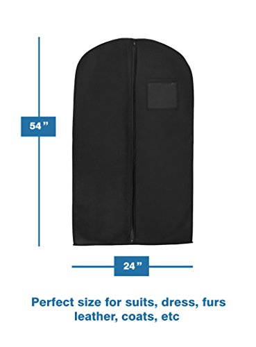 """1 X New Breathable 54"""" Suit/Dress Black Garment Bag by Bags for Less"""