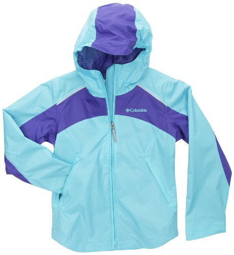 Columbia Little Girls'  Wet Reflect Jacket, Opal Blue, X-Small by Columbia