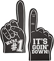 Okuna Outpost Black Foam Fingers for Sports Games, It's Goin' Down, We're #1 (17.5