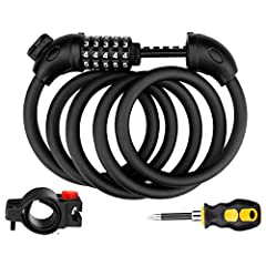 Features of Jade Cloud Bike Lock Cable:1. 4.9 feet length enough to lock the front and back wheels together;2. Made of flexible steel cables coated with corrosion and rust resistant PVC;3. The 5-digit combination allows more than10,000 possib...
