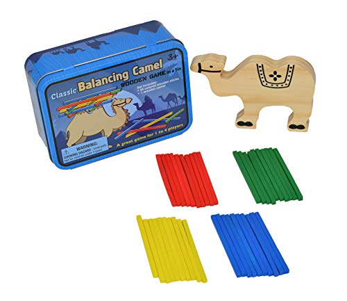 Home-X Balancing Camel Game in Tin Box | Smart Wooden Baby Toddler Educational Colorful Blocks Brain Development Toy Gift