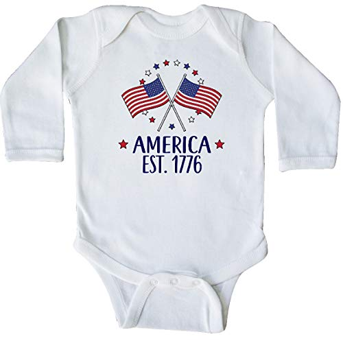 inktastic - America Est 1776 4th of Long Sleeve Creeper 12 Months White 365d1