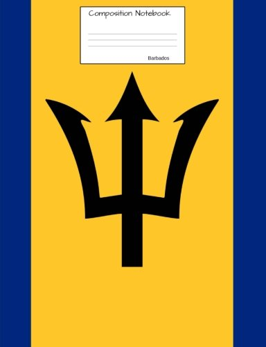 Barbados Composition Notebook: College Ruled Barbadian Flag Journal to write in for school, take notes, for kids, students, teachers, homeschool