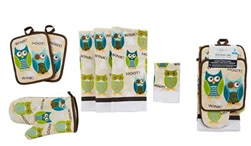Mainstays Owl  Piece Kitchen Set