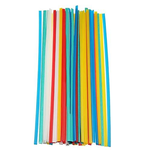 MEIZXIU 50pcs 25cm Plastic Welding Rods 5 Color Welder Sticks Blue/White/Yellow/Red/Green Welding Tools