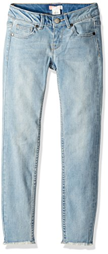 Roxy Girls' Big Roses and Violets Denim Pants, Light Blue, 8 ()