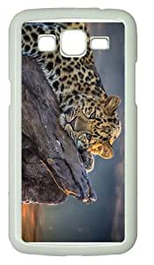 free coverleopard relaxing PC White case/cover for Samsung Galaxy Grand 2/7106