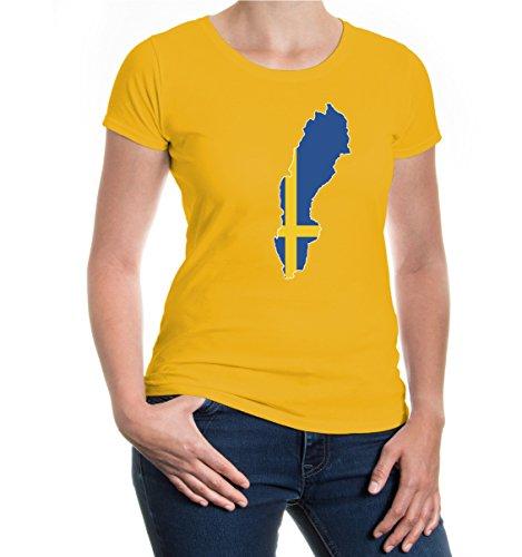 buXsbaum® Girlie T-Shirt Schweden-Shape sunflower